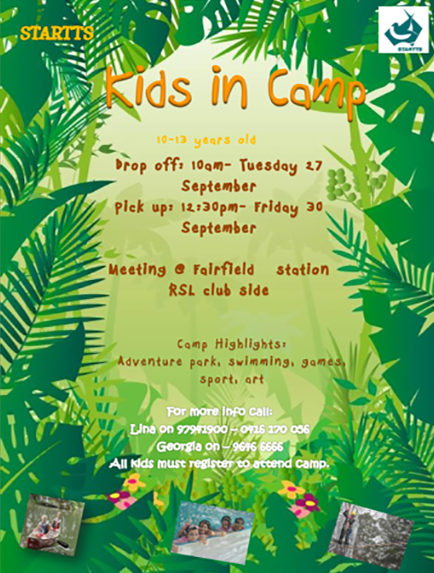 Rivendell Youth Camp, From Tuesday 27 September To Friday 30 September