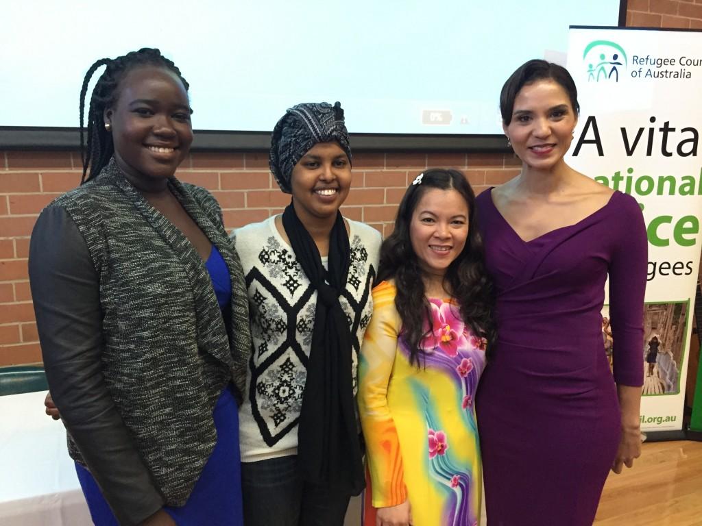 Priscilla Bul, Hani Aden, Teresa Tran and Janice Petersen