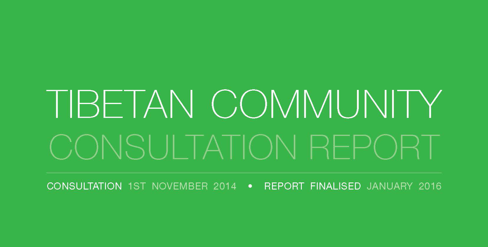 Launch Of STARTTS' Tibetan Community Consultation Report